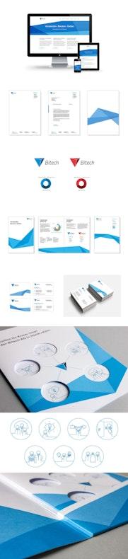 Full Service für die Bitech Gruppe: Workshop, Logo, Corporate Design, (Drupal) Website …