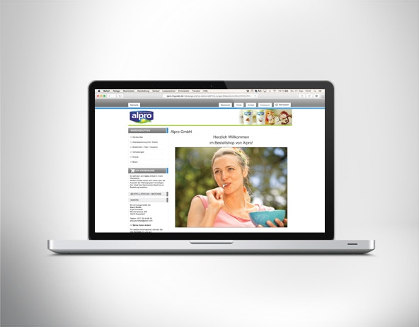 Konzeption und Realisierung des Bestellshops für Alpro GmbH