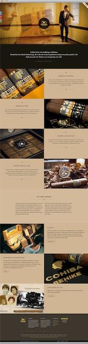 One Pager: Jubiläums Landing Page für die Luxusmarke Cohiba