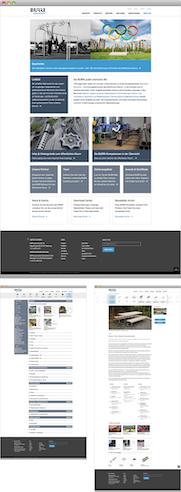 komplexe Corporate Website (mit Drupal) für die Burri AG