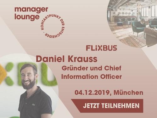 Zu Gast: Daniel Krauss, Gründer Flixmobility
