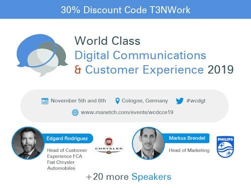 World Class Digital Communications & Customer Experience 2019